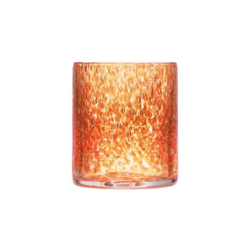 La Rochre Verre  eau  en verre orange - lot de 6