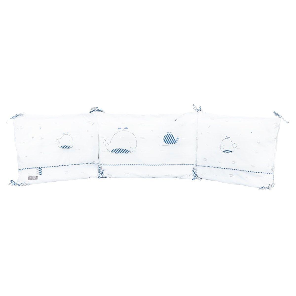 Sauthon Tour de lit bébé en coton blanc