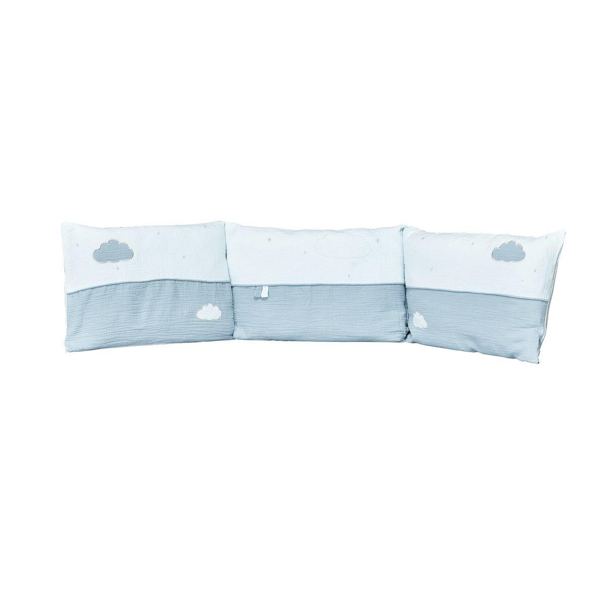 Sauthon Tour de lit bébé en coton bleu