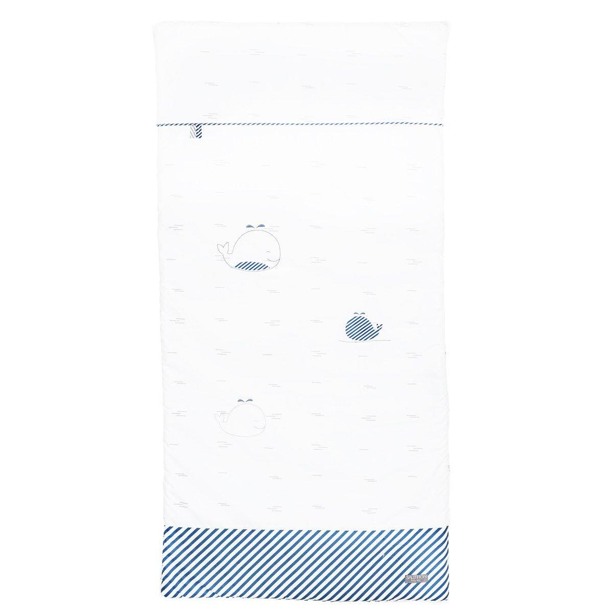 Sauthon Edredon 120x60 en coton blanc