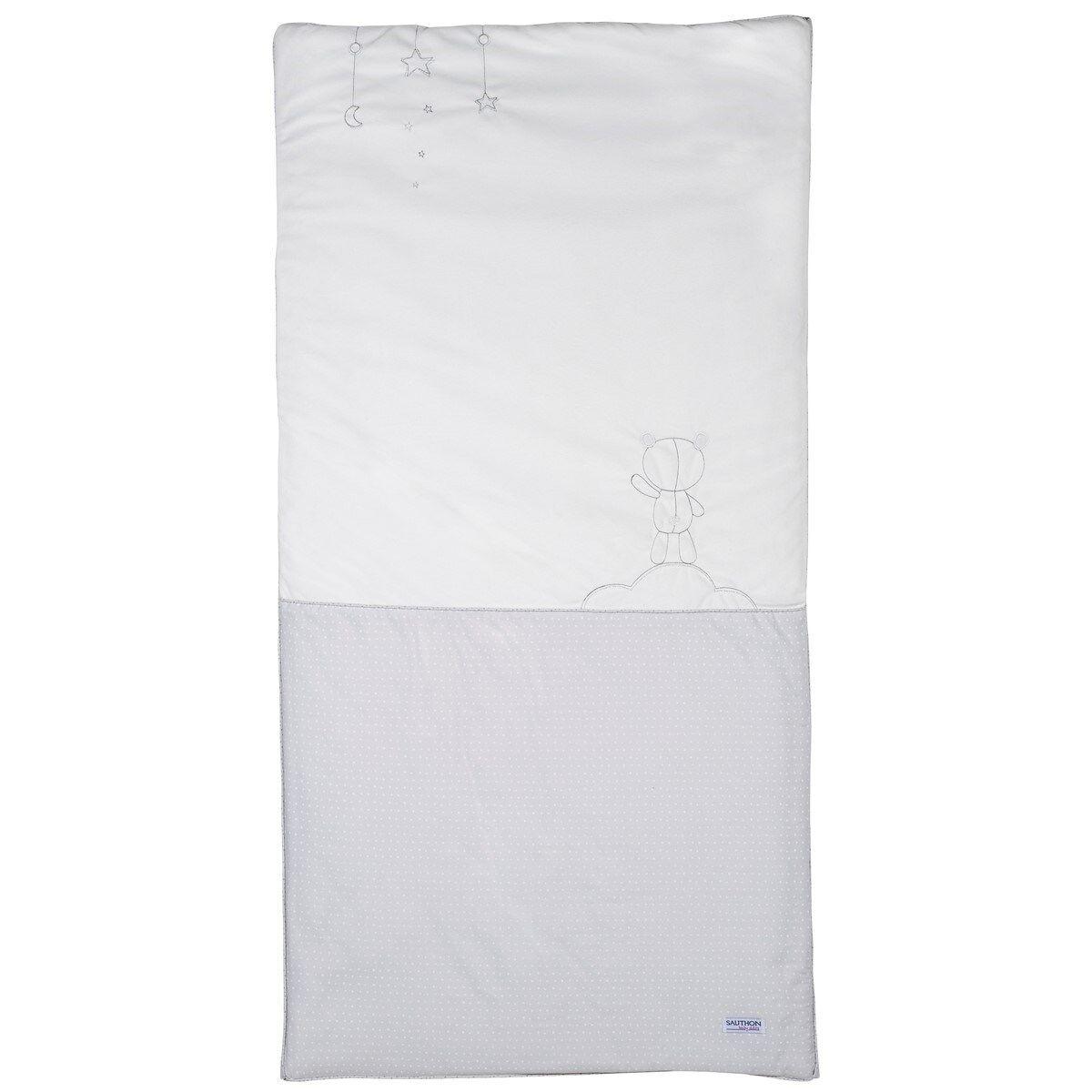 Sauthon Edredon pour lit bébé 140x70 en coton polyurethane gris