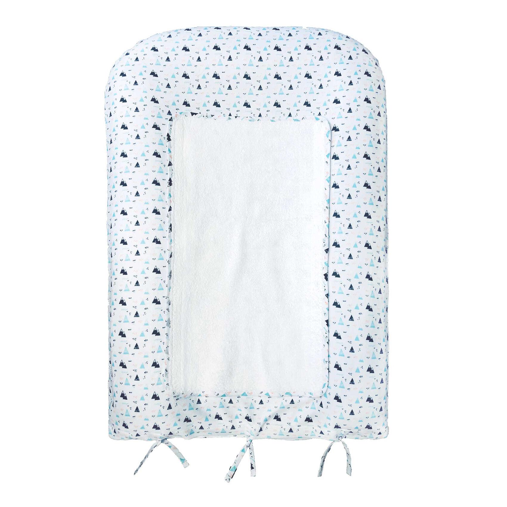 Home Maison Matelas à langer et housse bébé boréale blancAqua 50x75