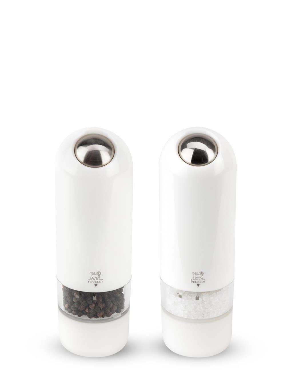 Peugeot Saveurs Duo de moulins poivre et sel électriques ABS blanc H17cm