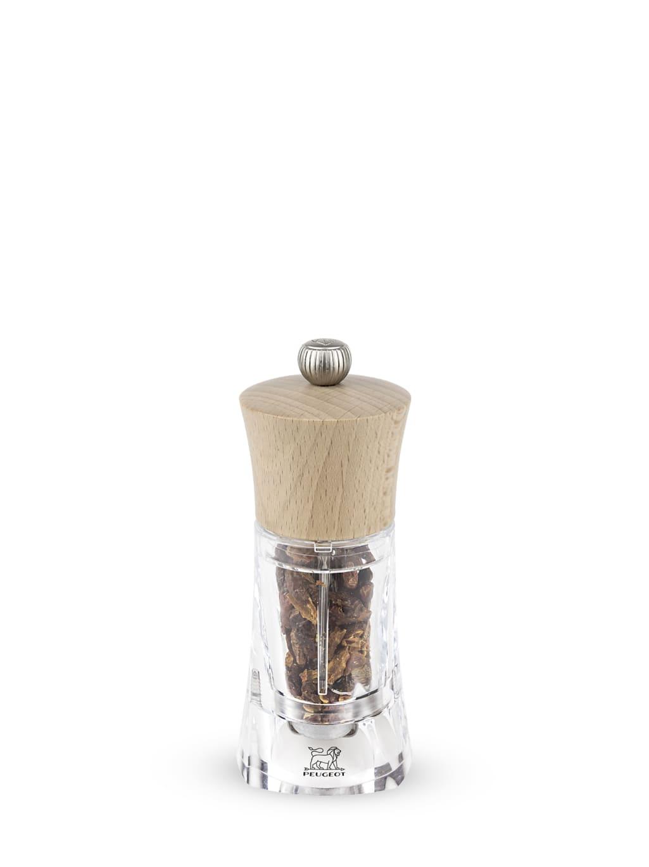 Peugeot Saveurs Moulin à piment bois et acryl naturel H14cm