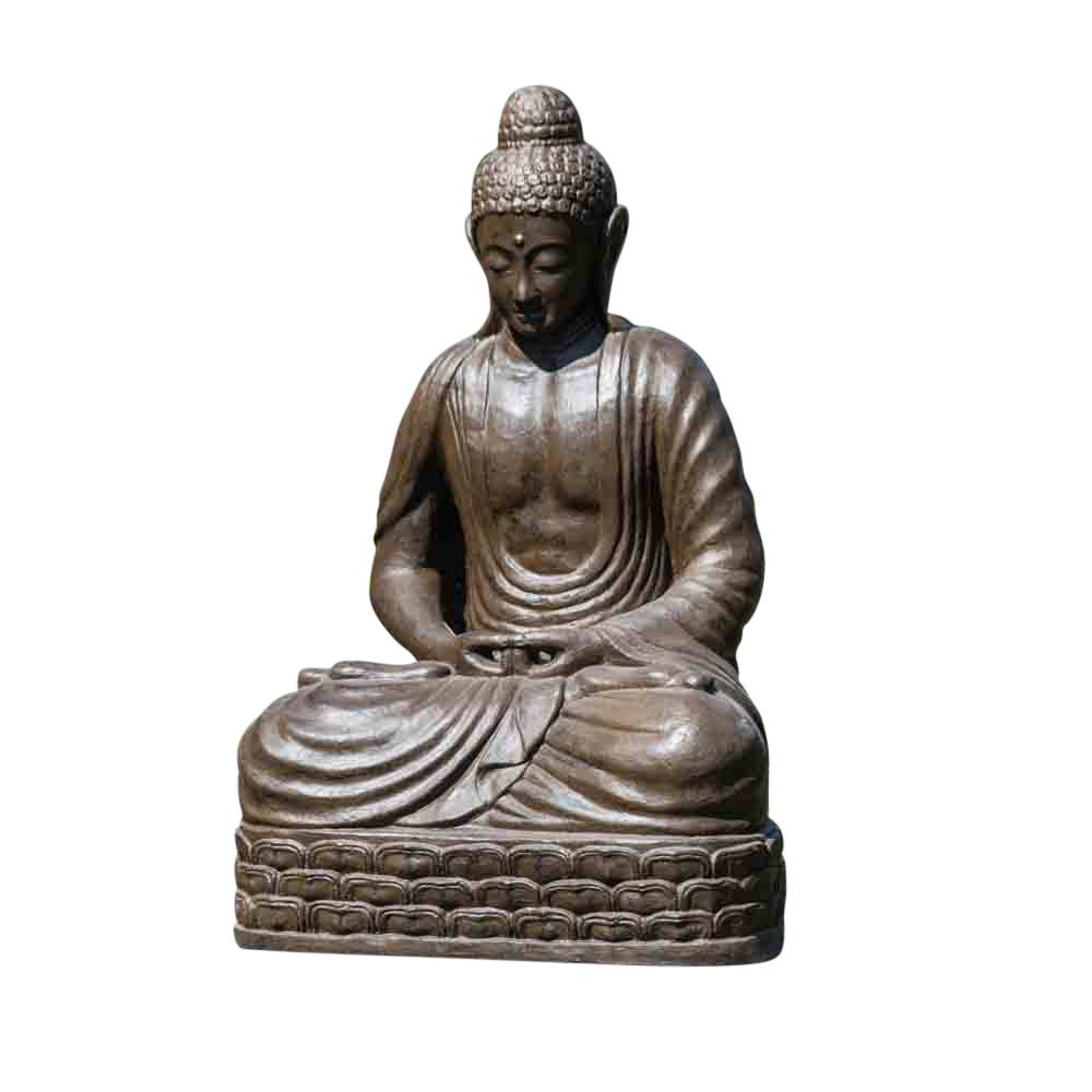 Wanda Collection Statue Bouddha assis position chakra brun H150cm