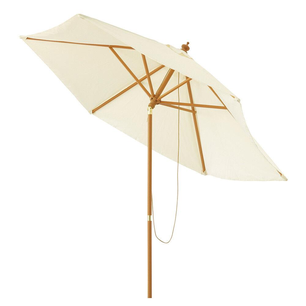 Maisons du Monde Parasol de jardin inclinable écru D 300 cm Palma