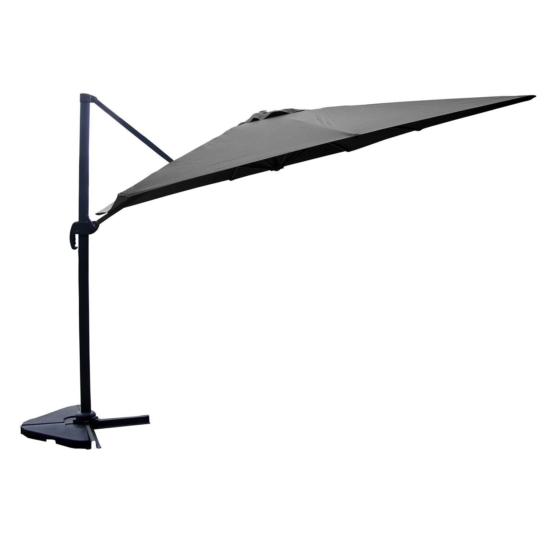 Concept Usine Parasol déporté et rotatif 3 x 4 m gris