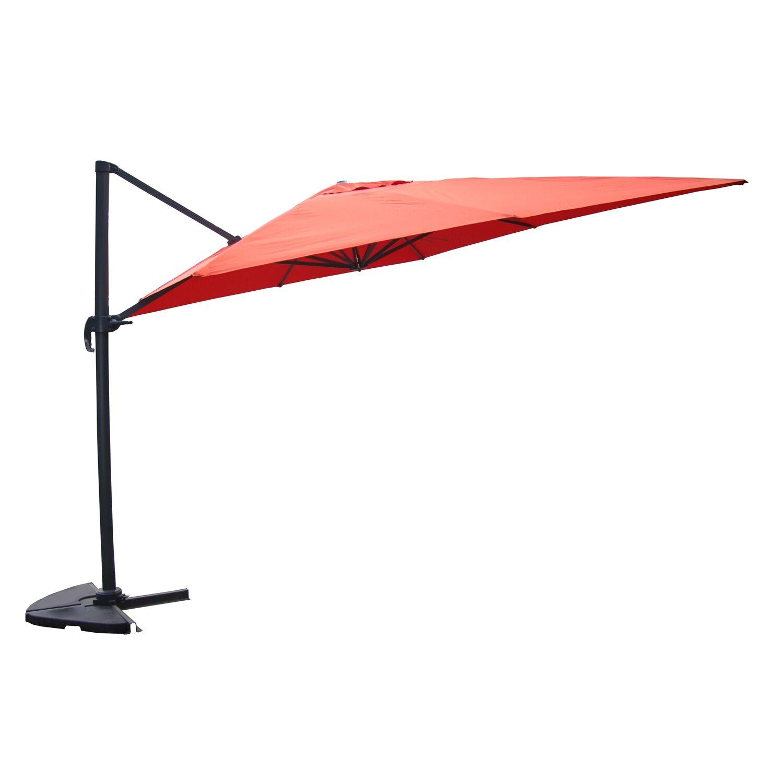 Concept Usine Parasol déporté et rotatif 3 x 4 m terracotta