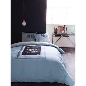 Today Parure de housse de couette coton bleu 220x240 cm - Publicité