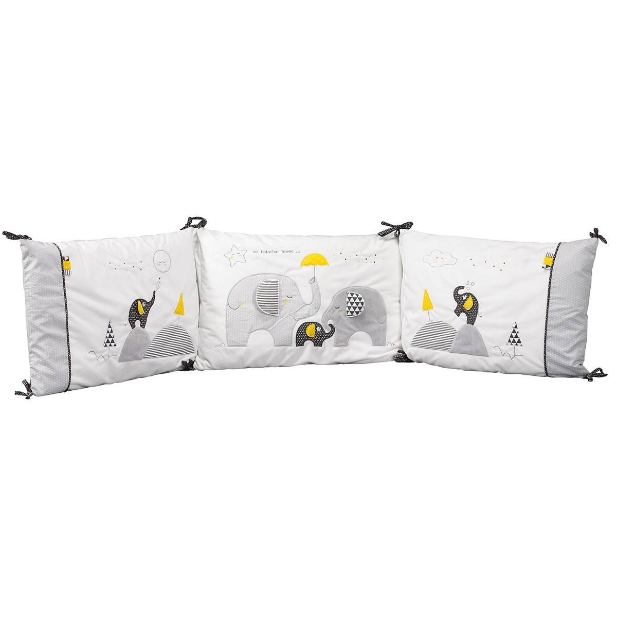 Sauthon Tour de lit bébé déhoussable en coton blanc