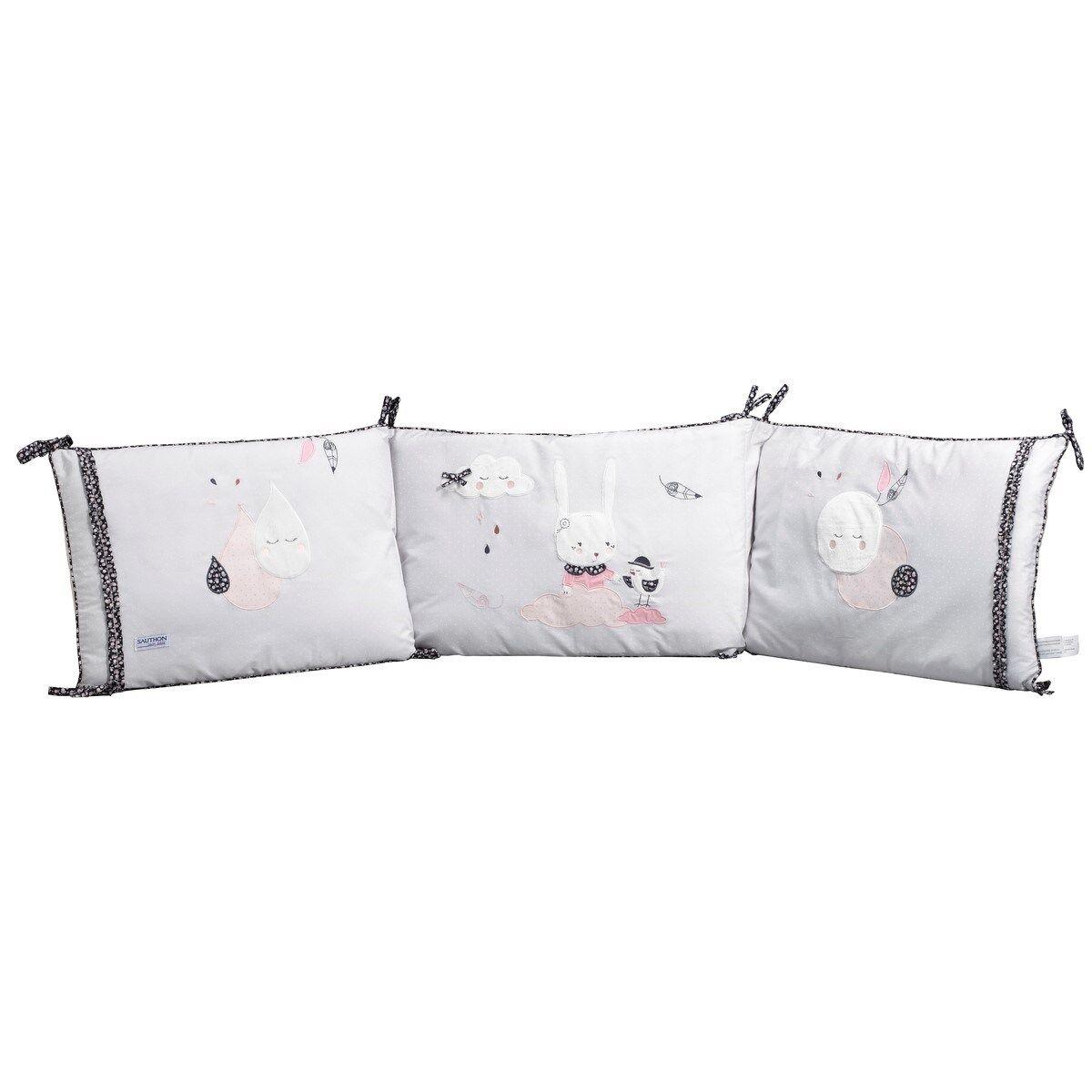 Sauthon Tour de lit déhoussable en coton polyurethane blanc