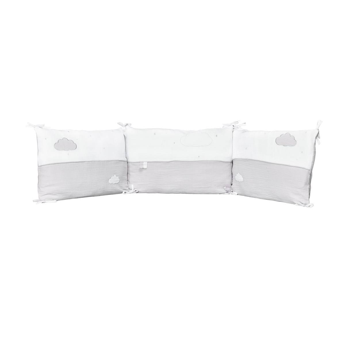 Sauthon Tour de lit bébé en coton gris