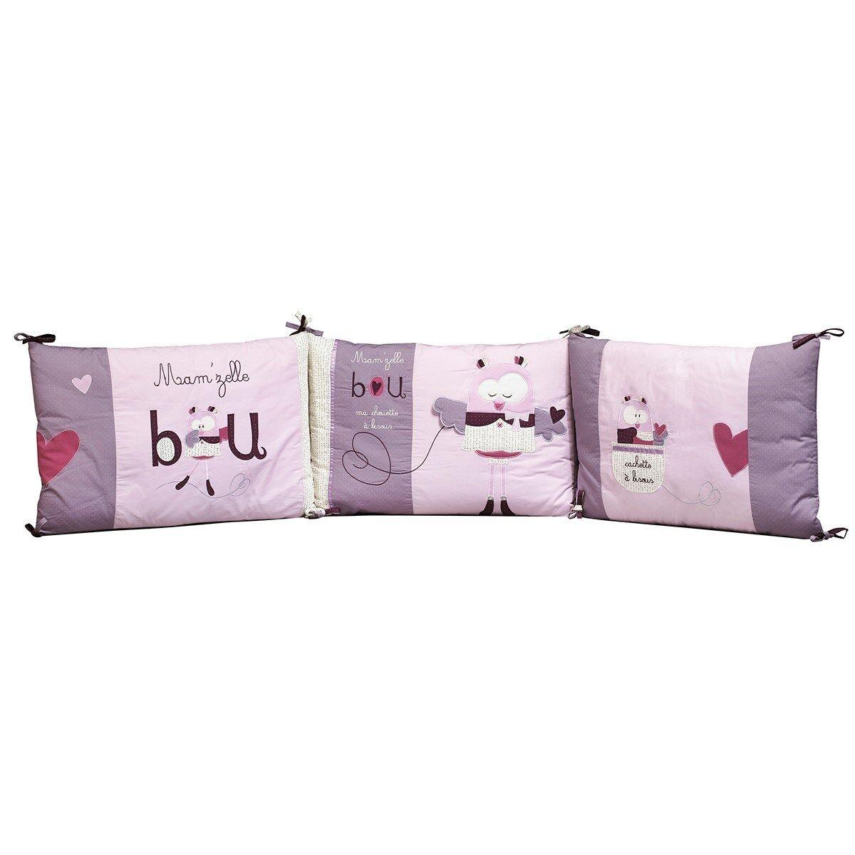 Sauthon Tour de lit bébé déhoussable en coton rose