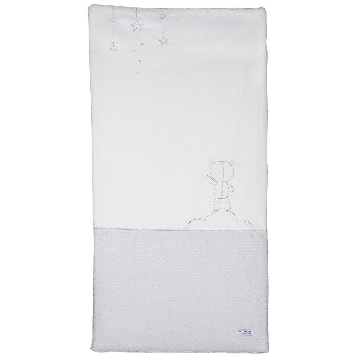 Sauthon Edredon pour lit bébé 120x60 en coton polyurethane blanc