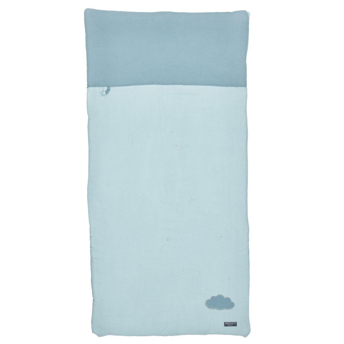 Sauthon Edredon 120x60 en coton bleu