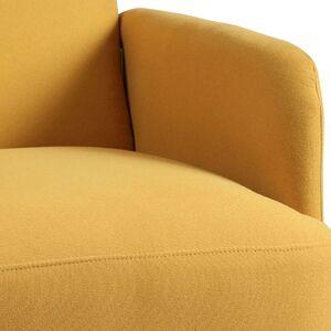 Altobuy Fauteuil  rembourré tissu jaune - Publicité