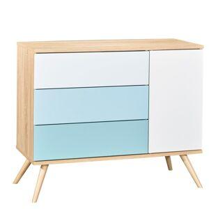 Sauthon Commode 1 porte et 3 tiroirs en bois bleu - Publicité
