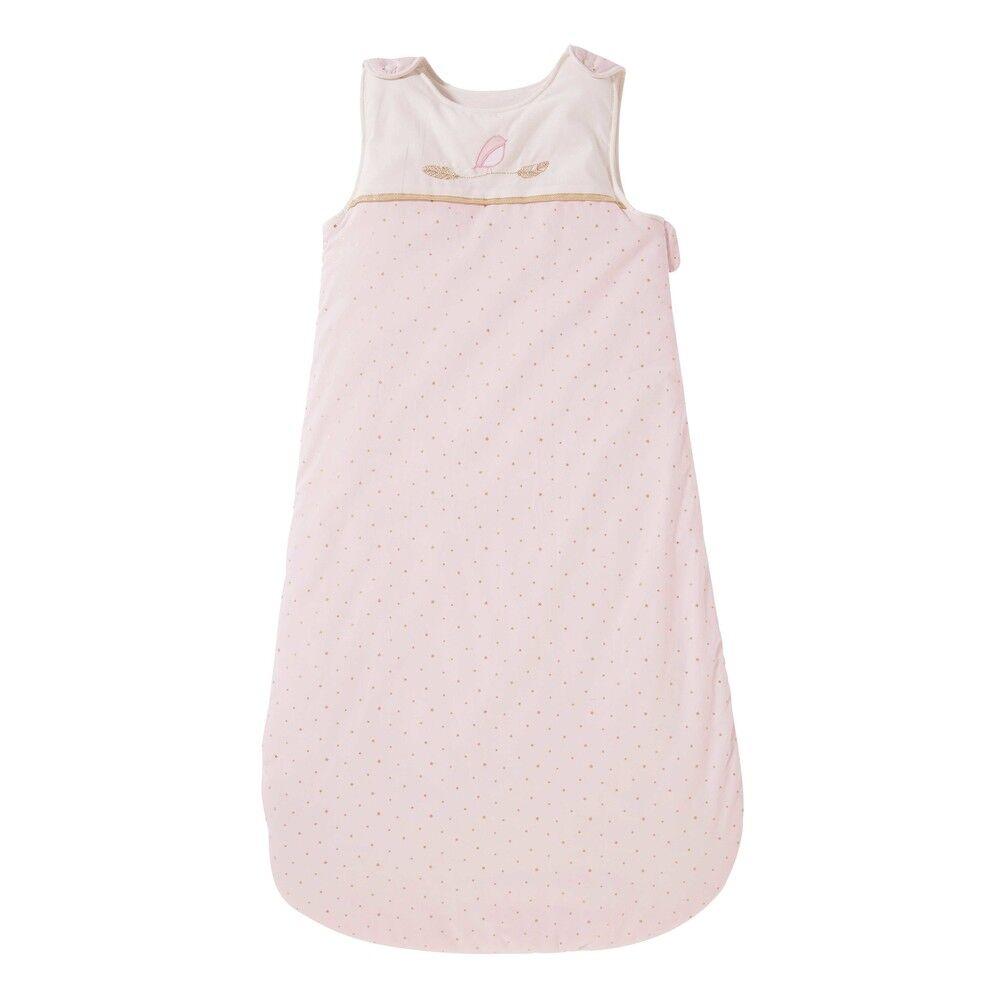 Maisons du Monde Gigoteuse bébé évolutive 0/18 mois en coton rose à pois