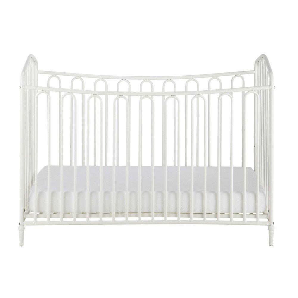 Maisons du Monde Lit bébé à barreaux en métal blanc cassé L126 Juliette