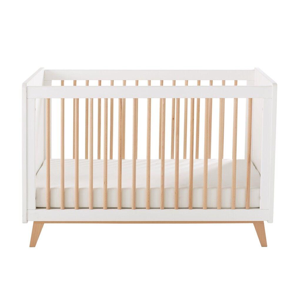 Maisons du Monde Lit vintage bébé à barreaux L125 Sweet