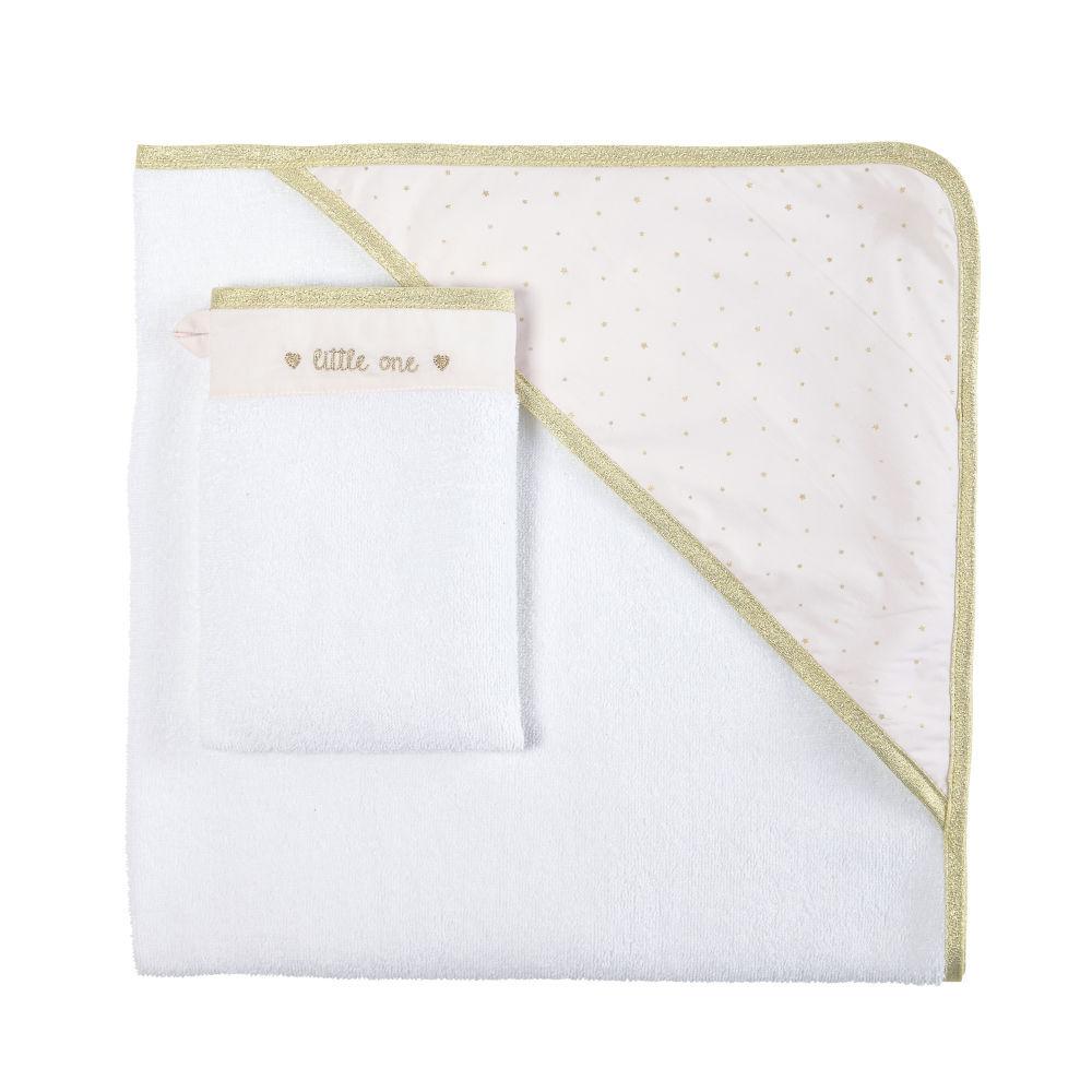 Maisons du Monde Sortie de bain bébé en coton blanc