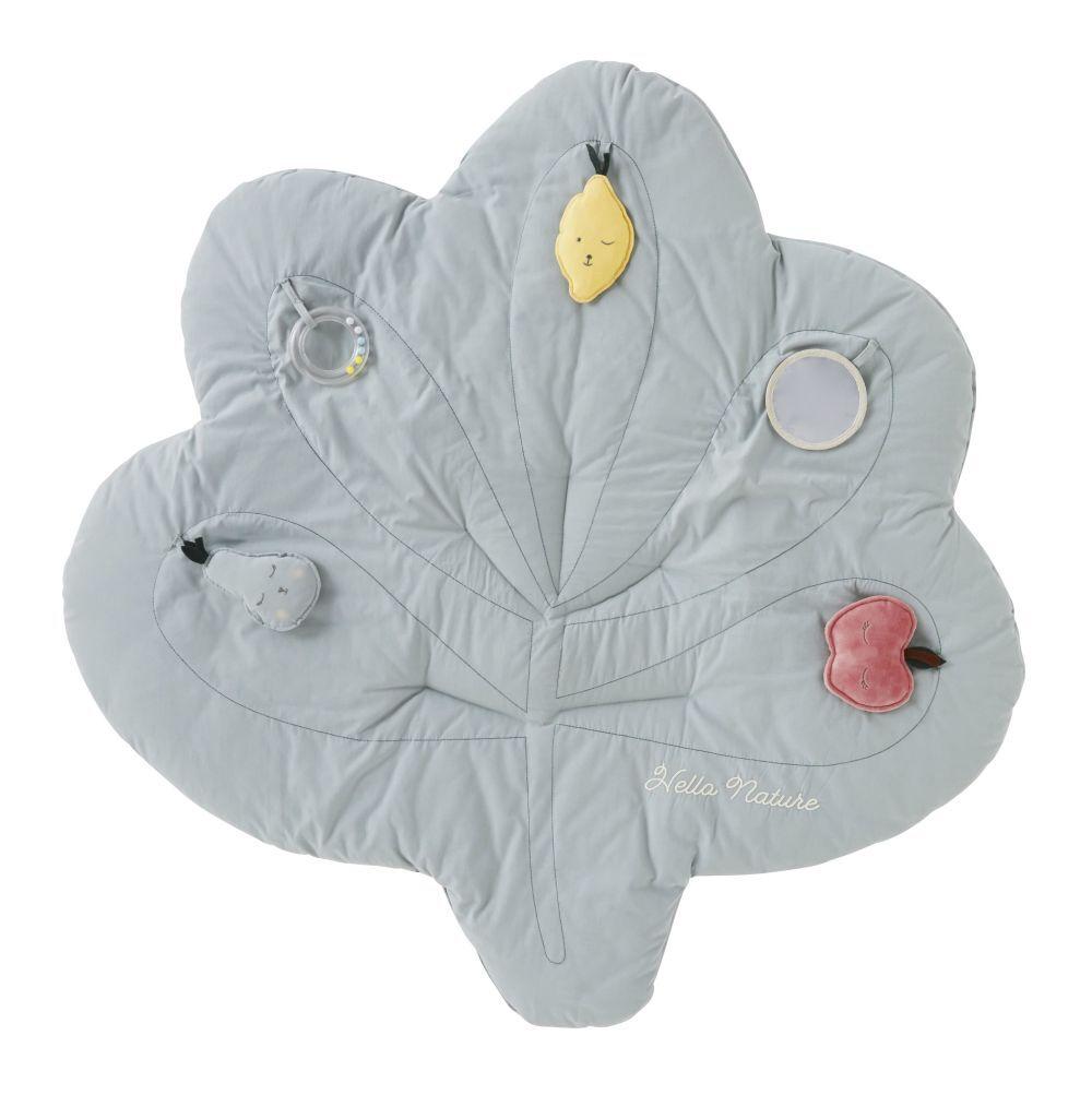 Maisons du Monde Tapis d'éveil bébé feuille en coton vert D100