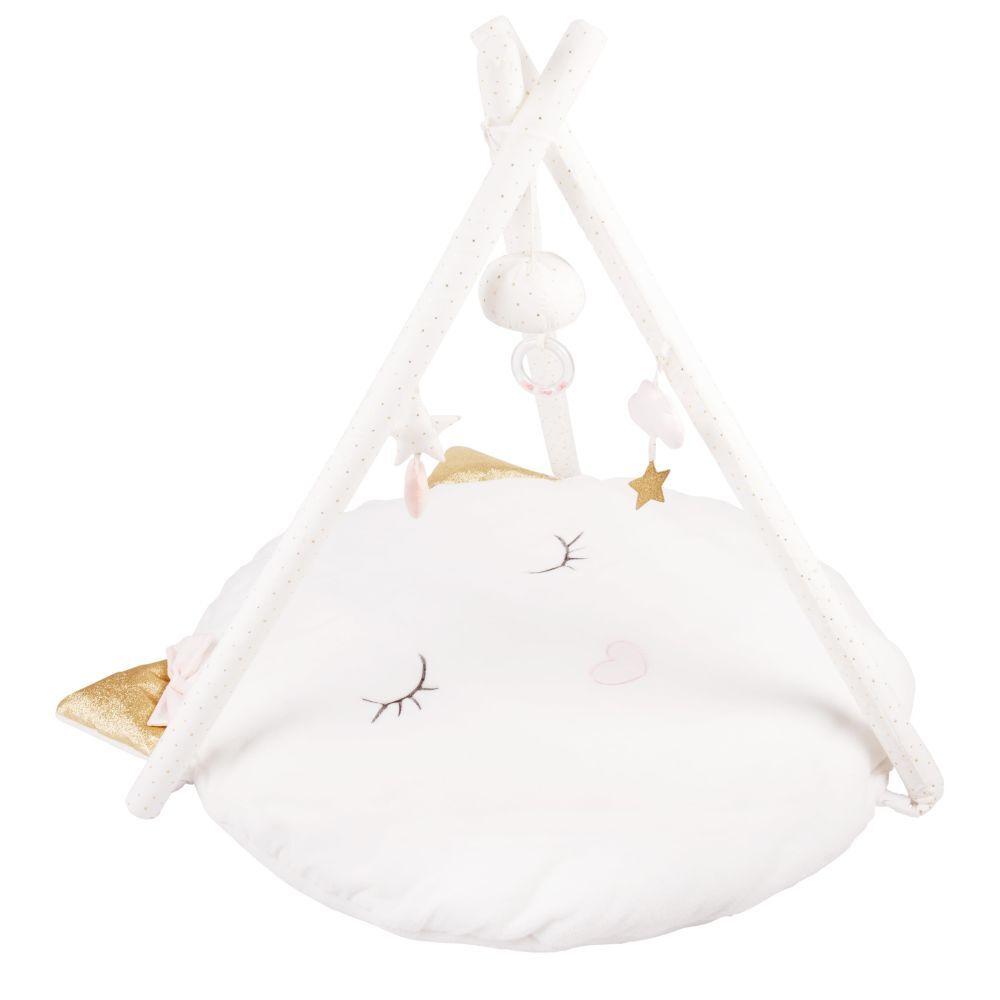 Maisons du Monde Tapis d'éveil bébé rond blanc D90