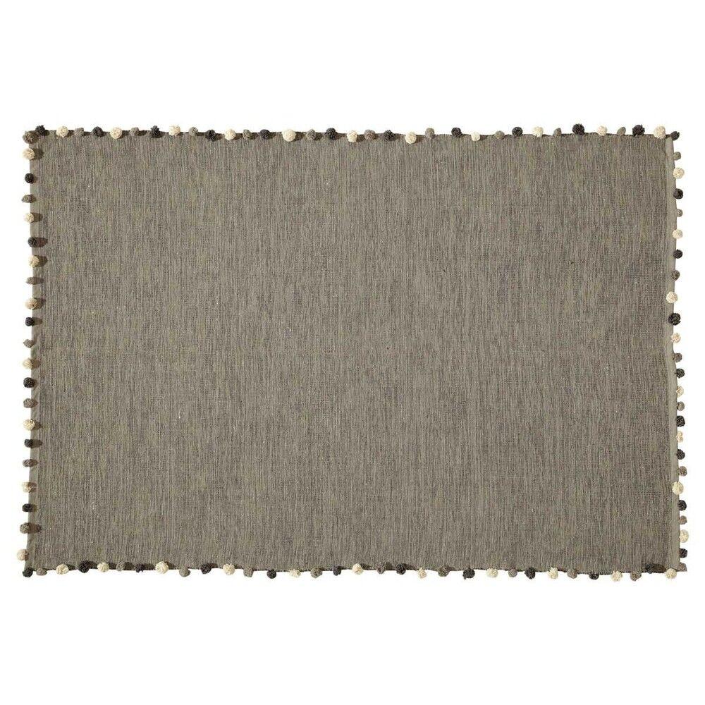 Maisons du Monde Tapis en coton gris 120x180
