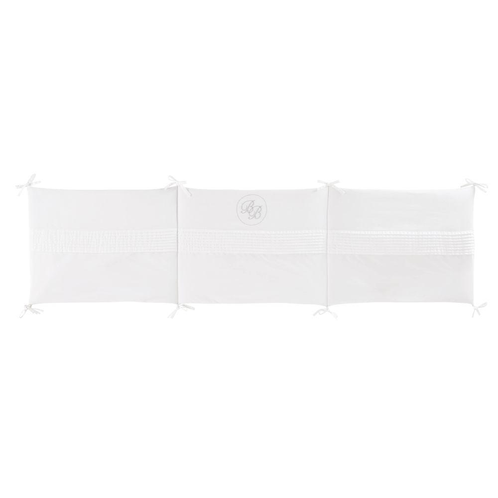 Maisons du Monde Tour de lit bébé en coton blanc