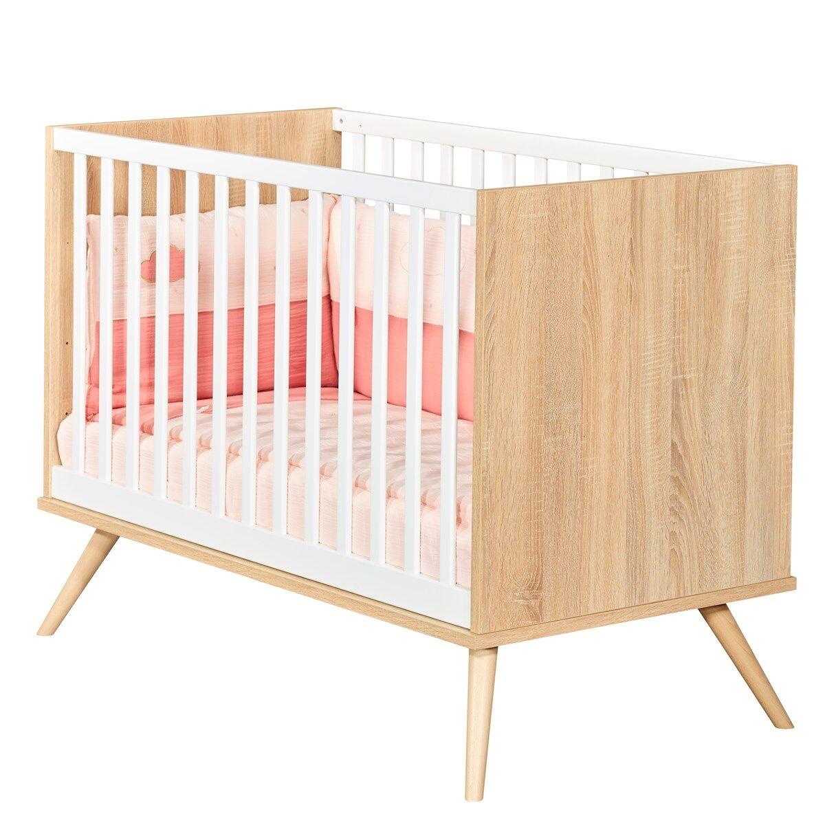 Sauthon Lit bébé 120x60 en bois marron