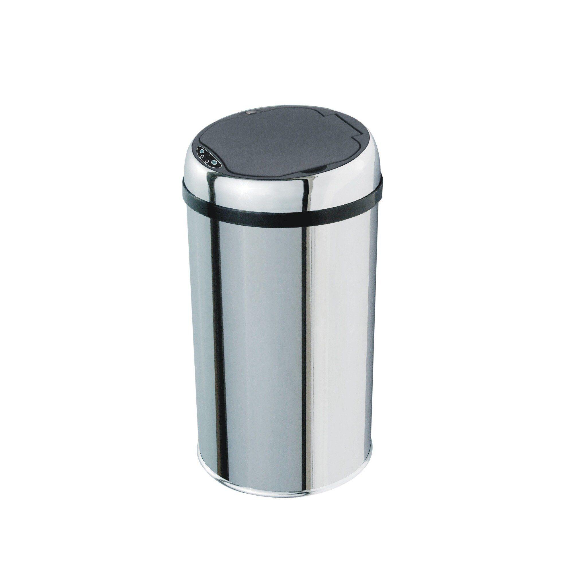 Kitchen Move Poubelle de cuisine automatique en acier inox avec seau 12L