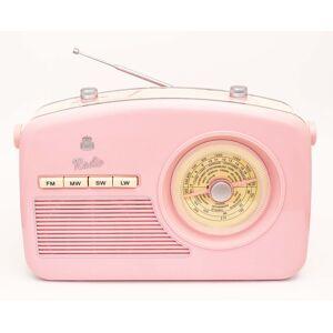 GPO Retro Design Radio vintage cadran roratif rose - Publicité