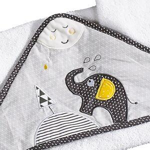 Sauthon Sortie de bain 75x75cm et son gant en coton blanc - Publicité