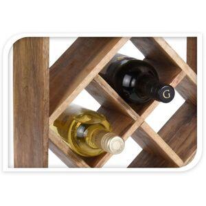Wadiga Porte bouteilles en bois 8 bouteilles 33x33cm - Publicité