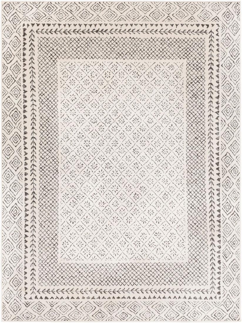 Surya Tapis de salon contemporain gris,beige et anthracite 200x274