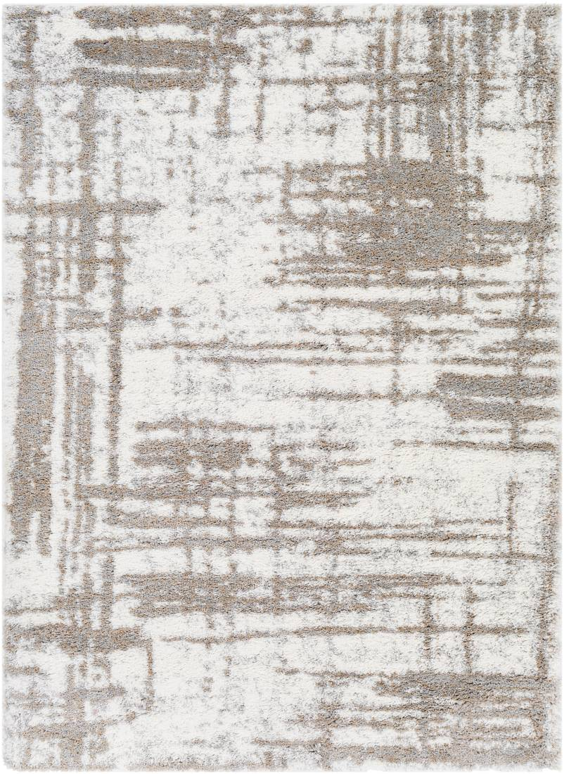 Surya Tapis de salon contemporain gris et crème 200x274