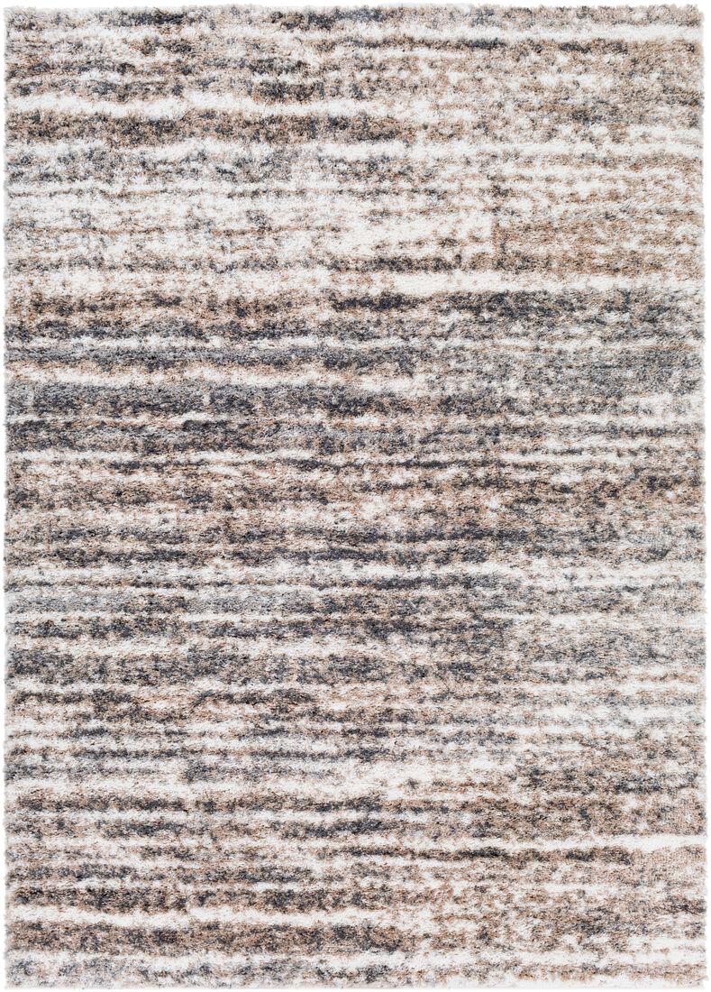 Surya Tapis de salon contemporain beige et gris 200x274