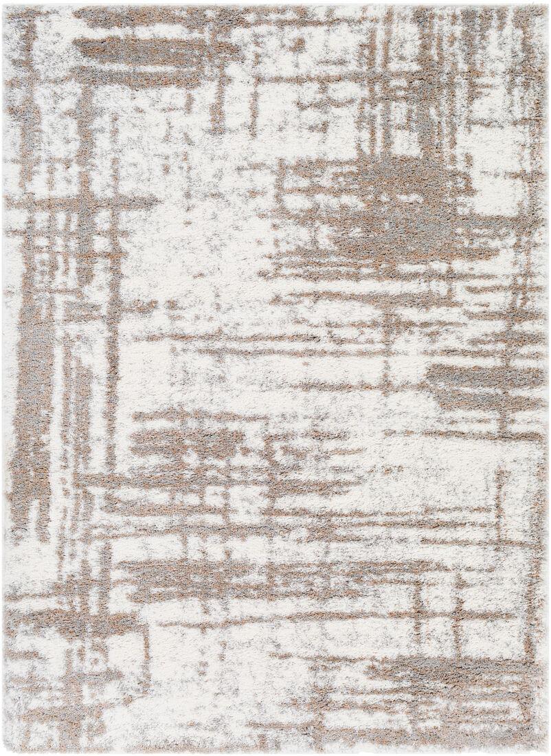 Surya Tapis de salon contemporain gris et crème 160x220