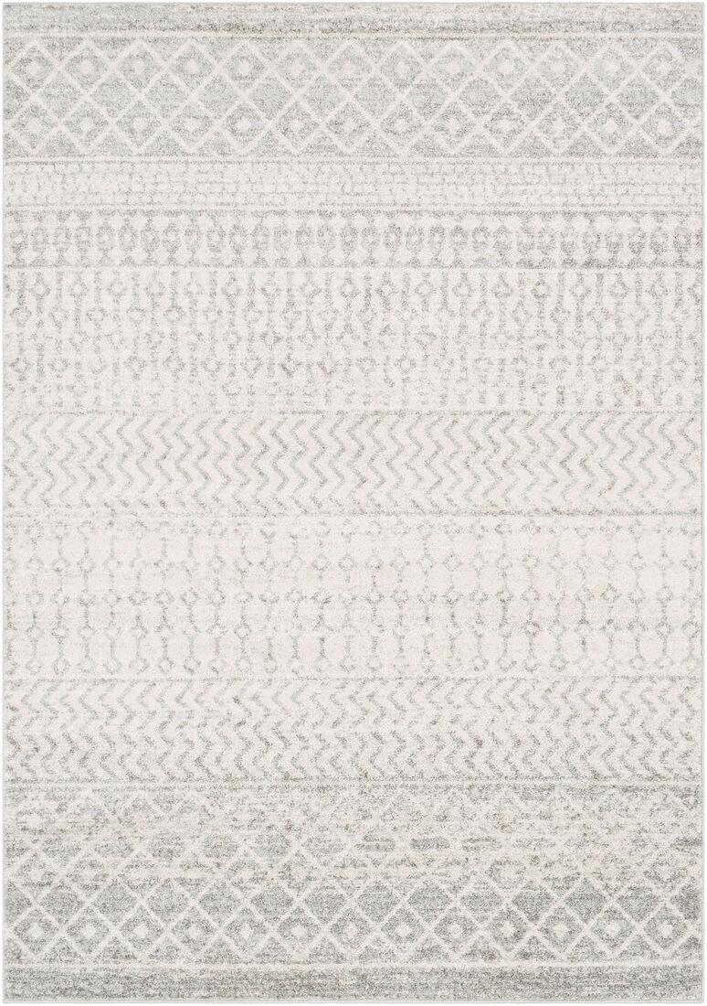 Surya Tapis de salon contemporain gris et blanc 120x170