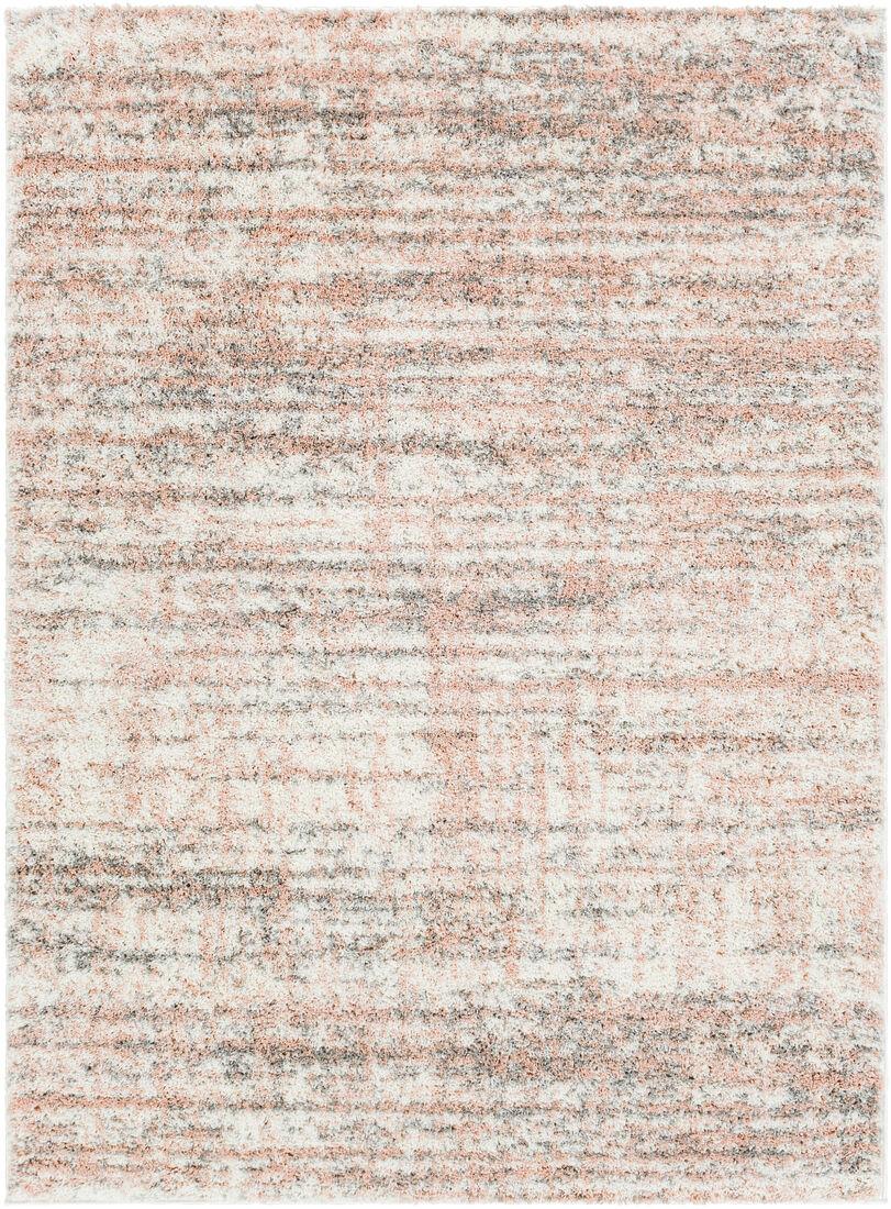 Surya Tapis de salon contemporain gris,beige et rose 200x274