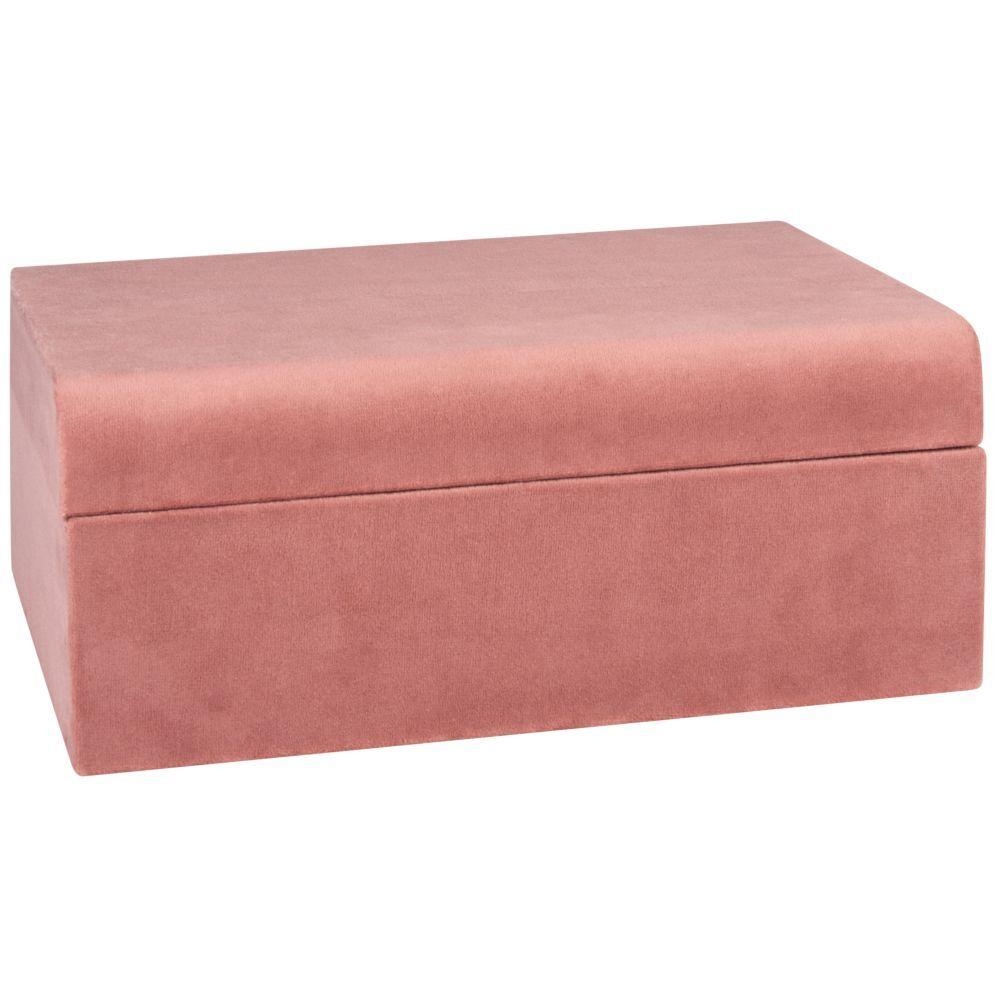 Maisons du Monde Boîte à bijoux en velours rose