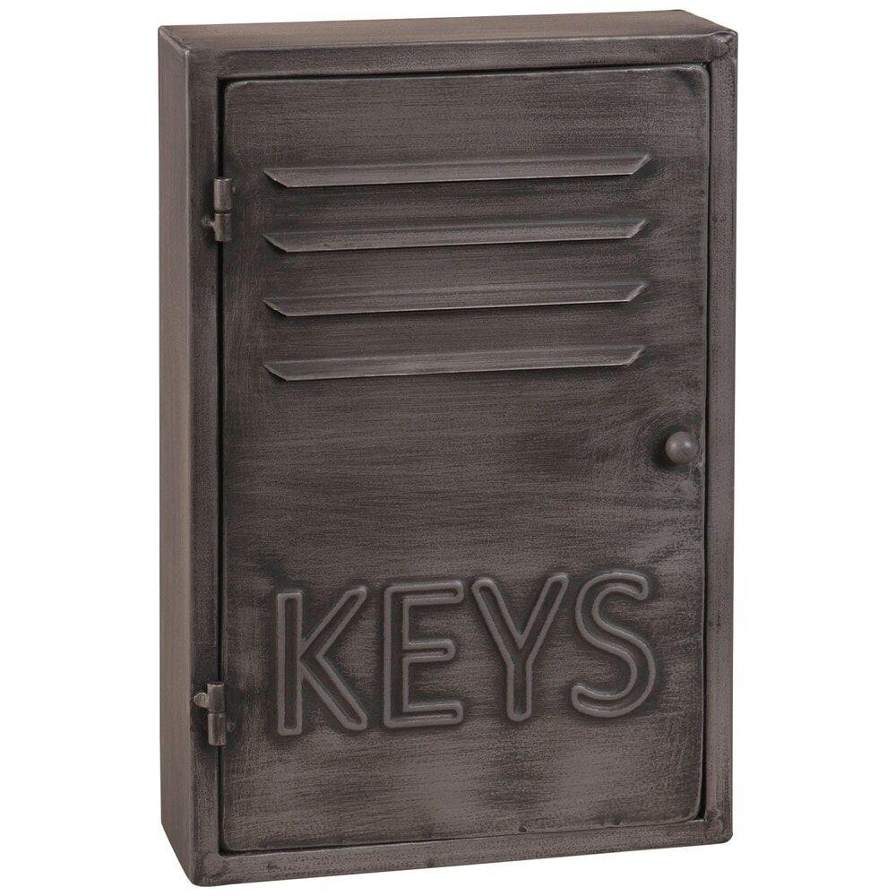 Maisons du Monde Boîte à clés indus en métal gris