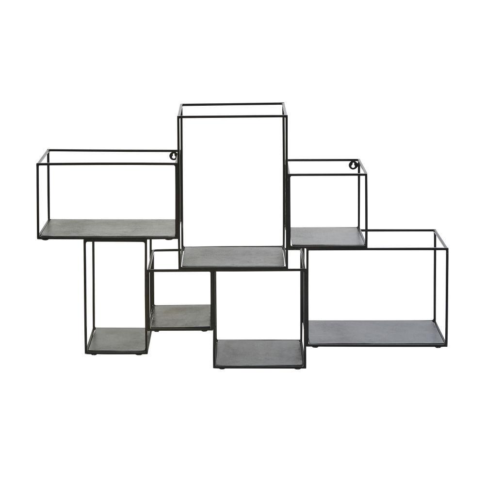 Maisons du Monde Etagères cubes en métal noir