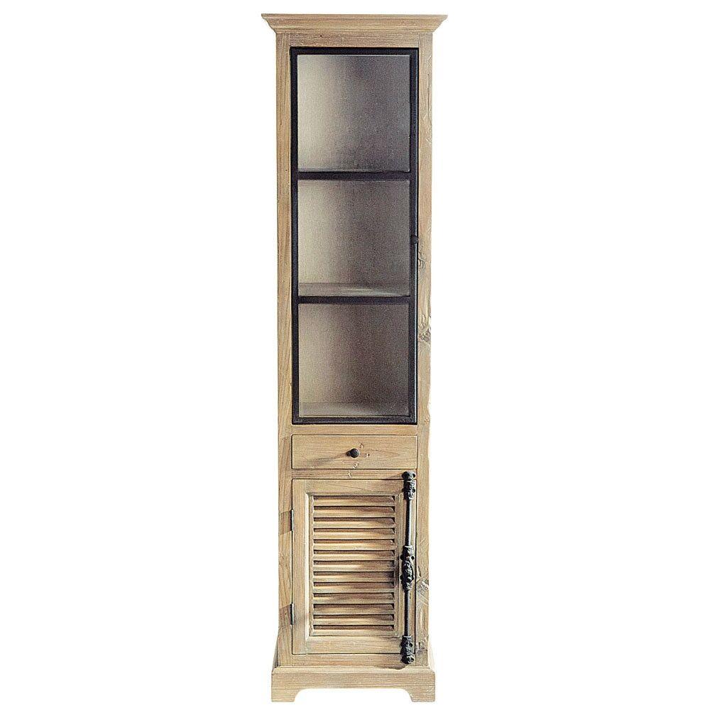 Maisons du Monde Vitrine en bois recyclé L 52 cm