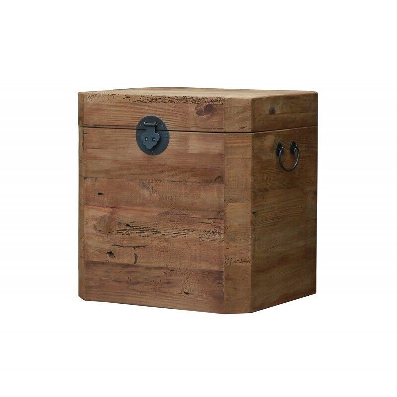 Meubletmoi Coffre cube en pin recyclé