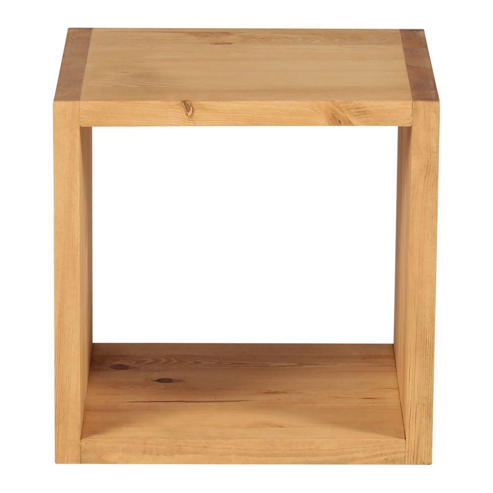 Grenier Alpin Cube 1 case en pin massif teinté ciré