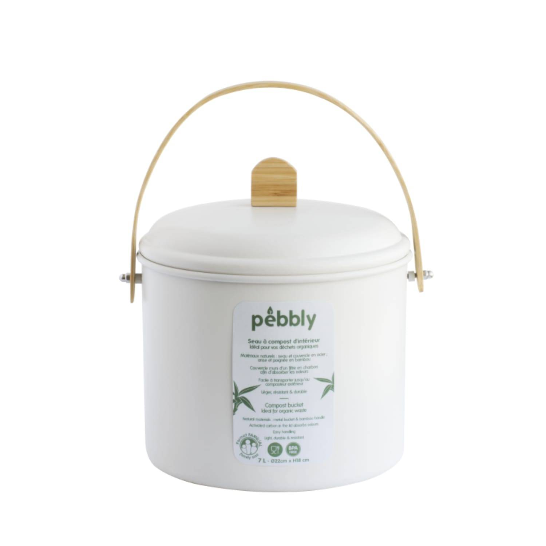 Pebbly Seau compost intérieur 22x18cm 7L