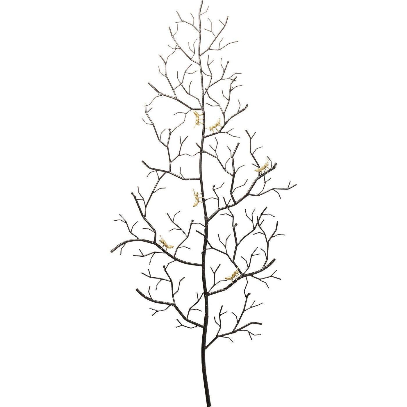 Kare Design Porte-manteau fourmis dorées et arbre en acier H160