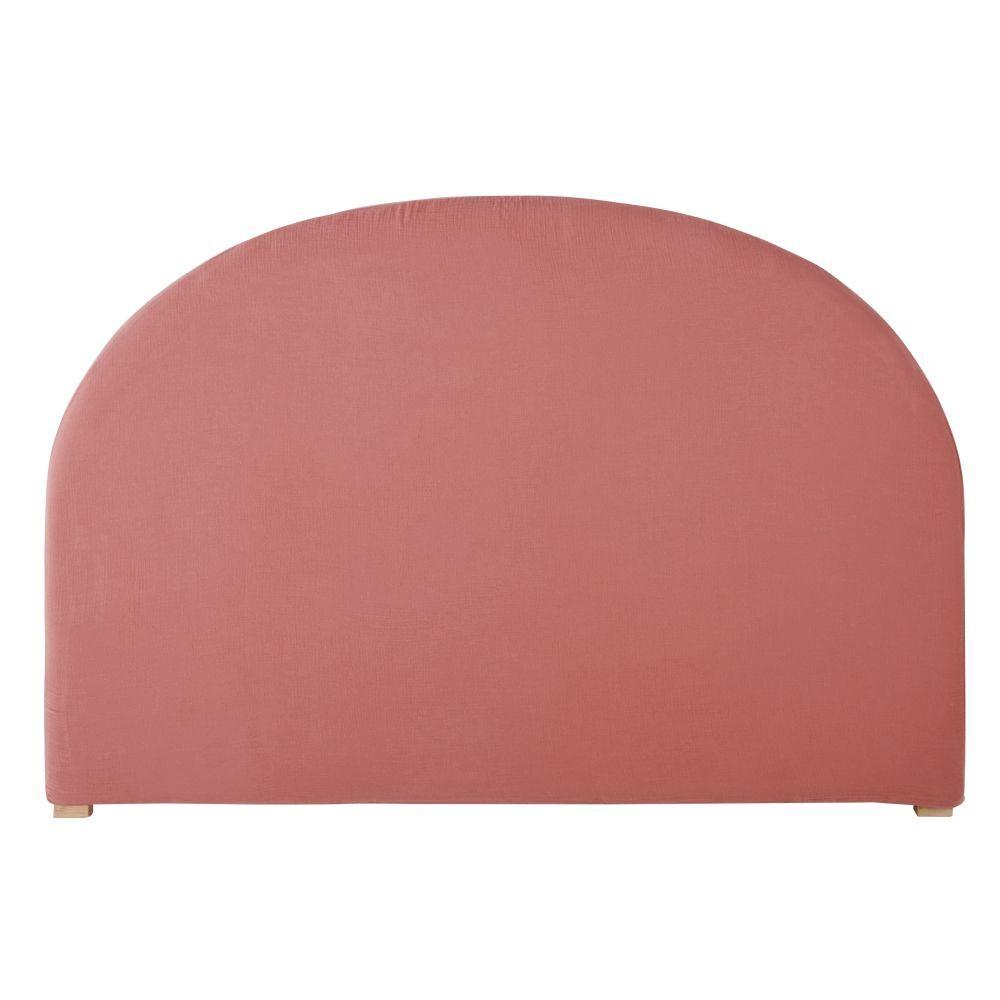 Maisons du Monde Housse de tête de lit 140 en gaze de coton bio rose framboise