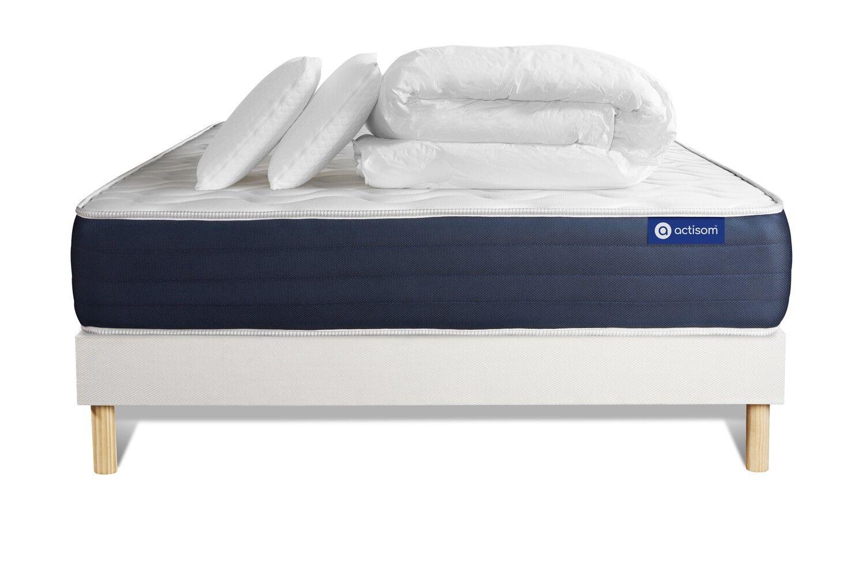 Actisom Pack ACTIMEMO SLEEP 180x200cm sommier kit blanc